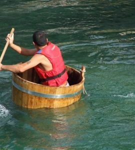 rowing in a tub