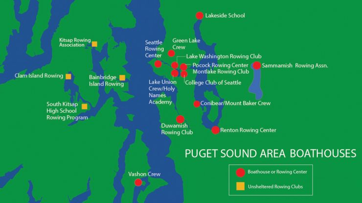 Puget Sound Boathouse Map