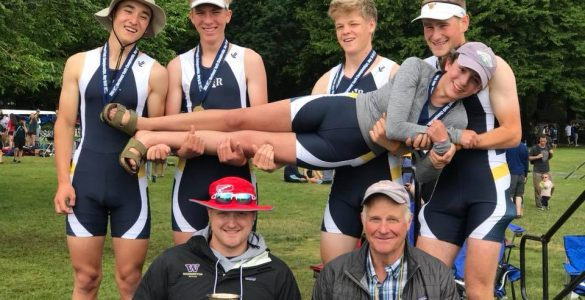 Men's Lightweight 4+ and Coaches with trophy - Regionals 2018