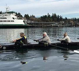 BIR Masters rowers near ferry