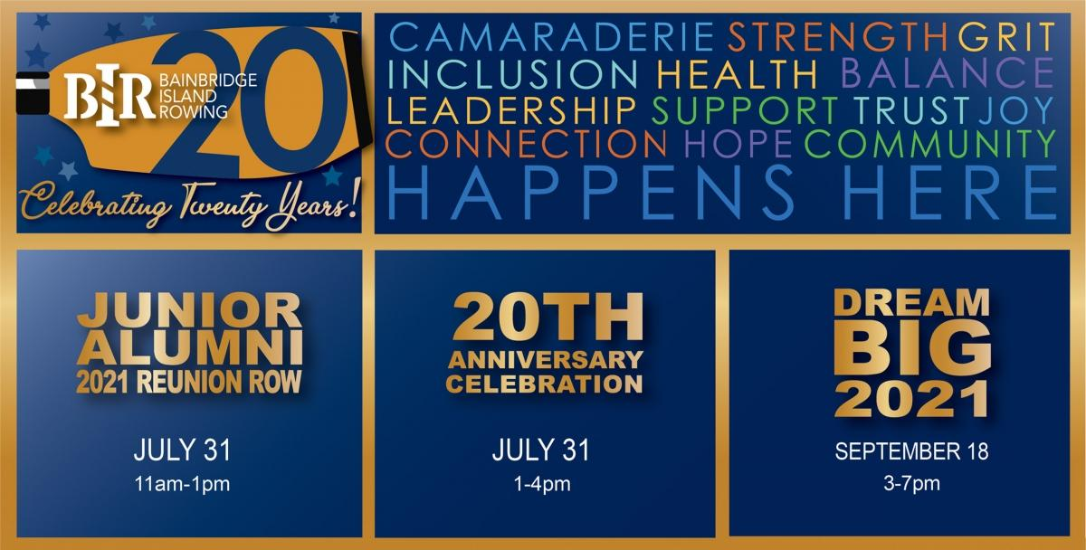 BIR 20th celebration graphic