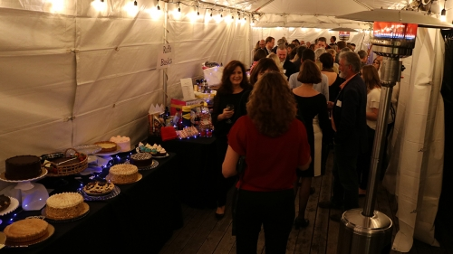 Dessert line-up in the toasty tent - BIR Dream Big 2018
